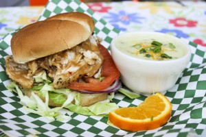Chicken sandwich and soup of the moment